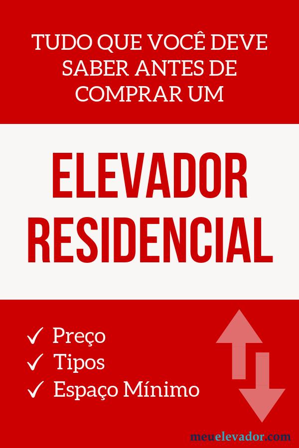 elevador residencial preço