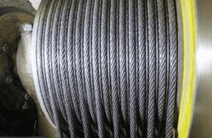 cabos de aço do elevador