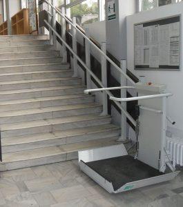 plataforma de escada elevatoria