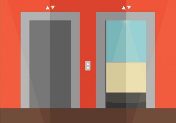 caixa de corrida do elevador